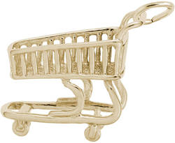 Shopping Cart Charm (Choose Metal) by Rembrandt