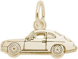 Flat Classic German Sports Car Charm (Choose Metal) by Rembrandt