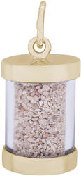 Jamaica Ocho Rios Sand Capsule Charm (Choose Metal) by Rembrandt