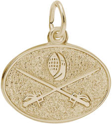 Fencing Oval Charm (Choose Metal) by Rembrandt