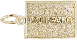 Colorado Map Charm (Choose Metal) by Rembrandt