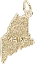 Maine Map Charm (Choose Metal) by Rembrandt