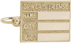 Drivers License Charm (Choose Metal) by Rembrandt