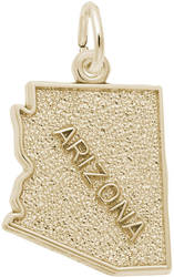 Arizona Map Charm (Choose Metal) by Rembrandt