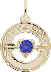 Synthetic Crystal Simulated Birthstone Charms Collection - September (Choose Metal) by Rembrandt