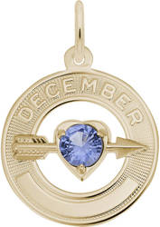 Synthetic Crystal Simulated Birthstone Charms Collection - December (Choose Metal) by Rembrandt
