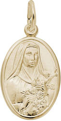 St. Theresa Oval Charm (Choose Metal) by Rembrandt