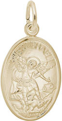 St. Michael Oval Charm (Choose Metal) by Rembrandt