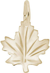 Medium Maple Leaf Charm (Choose Metal) by Rembrandt