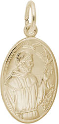 St. Francis Oval Charm (Choose Metal) by Rembrandt