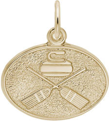 Curling Oval Charm (Choose Metal) by Rembrandt