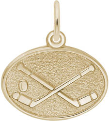 Hockey Oval Charm (Choose Metal) by Rembrandt