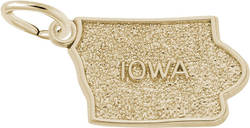 Iowa Map Charm (Choose Metal) by Rembrandt