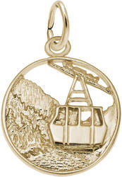 Banff Mountain Gondola Charm (Choose Metal) by Rembrandt