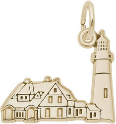 Portland Head, ME Lighthouse Charm (Choose Metal) by Rembrandt