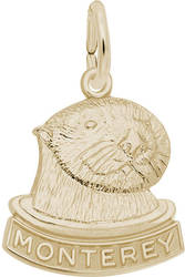 Monterey Sea Otter Charm (Choose Metal) by Rembrandt