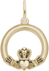 Detailed Claddagh Charm (Choose Metal) by Rembrandt