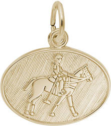 Polo Oval Charm (Choose Metal) by Rembrandt