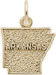 Arkansas Map Charm (Choose Metal) by Rembrandt