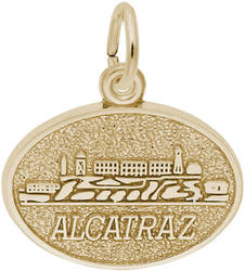 Alcatraz Oval Charm (Choose Metal) by Rembrandt