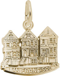 San Francisco Victorian Houses Charm (Choose Metal) by Rembrandt