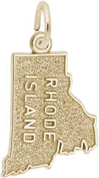 Rhode Island Map Charm (Choose Metal) by Rembrandt