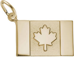 Canadian Flag Charm (Choose Metal) by Rembrandt