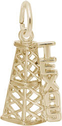 Texas Oil Rig Charm (Choose Metal) by Rembrandt