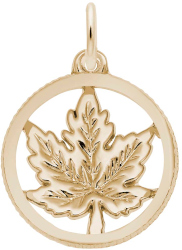 Maple Leaf Faceted Charm (Choose Metal) by Rembrandt