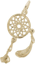 Dream Catcher Charm (Choose Metal) by Rembrandt
