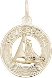 Nova Scotia Sailboat Ring Charm (Choose Metal) by Rembrandt