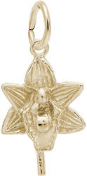 Orchid Flower Charm (Choose Metal) by Rembrandt