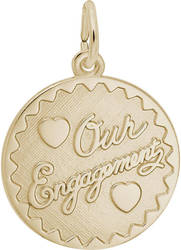 Our Engagement Charm (Choose Metal) by Rembrandt