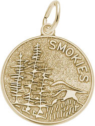 Smokies Mountain Scene Charm (Choose Metal) by Rembrandt