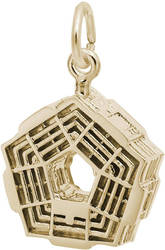 Pentagon Charm (Choose Metal) by Rembrandt