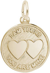 I Am Yours Charm (Choose Metal) by Rembrandt
