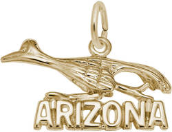 Arizona Road Runner Charm (Choose Metal) by Rembrandt