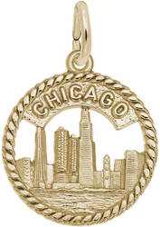 Chicago Skyline Charm (Choose Metal) by Rembrandt