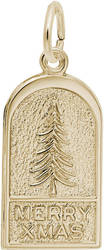 Merry Xmas Tree Charm (Choose Metal) by Rembrandt