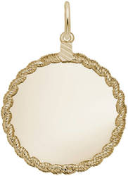 Extra Large Twisted Rope Charm (Choose Metal) by Rembrandt