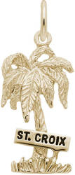 St. Croix Palm Tree Charm (Choose Metal) by Rembrandt