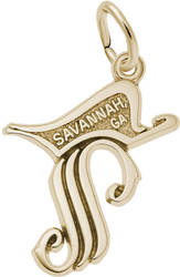 Savannah Georgia Symbol Charm (Choose Metal) by Rembrandt