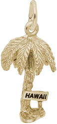Hawaii Palm Tree Charm (Choose Metal) by Rembrandt