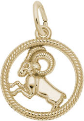 Aries Ram Charm (Choose Metal) by Rembrandt