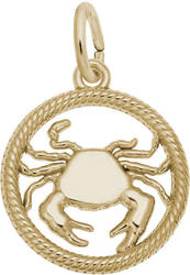 Cancer Crab Charm (Choose Metal) by Rembrandt
