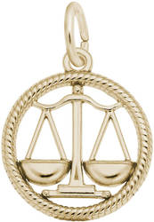 Libra Scales Charm (Choose Metal) by Rembrandt