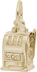 Atlantic City Slot Machine Ring Charm (Choose Metal) by Rembrandt