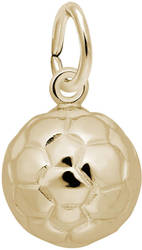 Soccer Ball Charm (Choose Metal) by Rembrandt