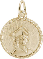 Fancy Graduation Charm (Choose Metal) by Rembrandt