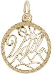 Vail Faceted Charm (Choose Metal) by Rembrandt